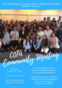 COFA Community Meeting