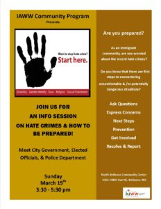 IAWW Hate Crime Info Session