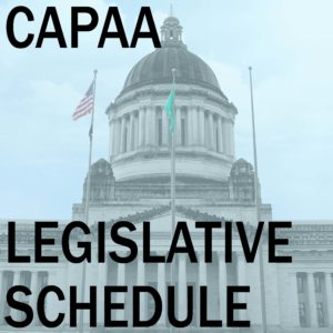 Legislative Schedule for the Week of January 8, 2018